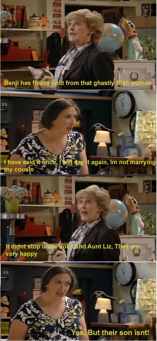 Oh Miranda. . I t from that ghasta llooll, - . l stop . t i l My d Aunt Liz, T very happy , in ' a