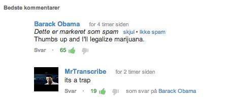 Oh U Tube. Found beneath a Skrillex video (sorry). ganja