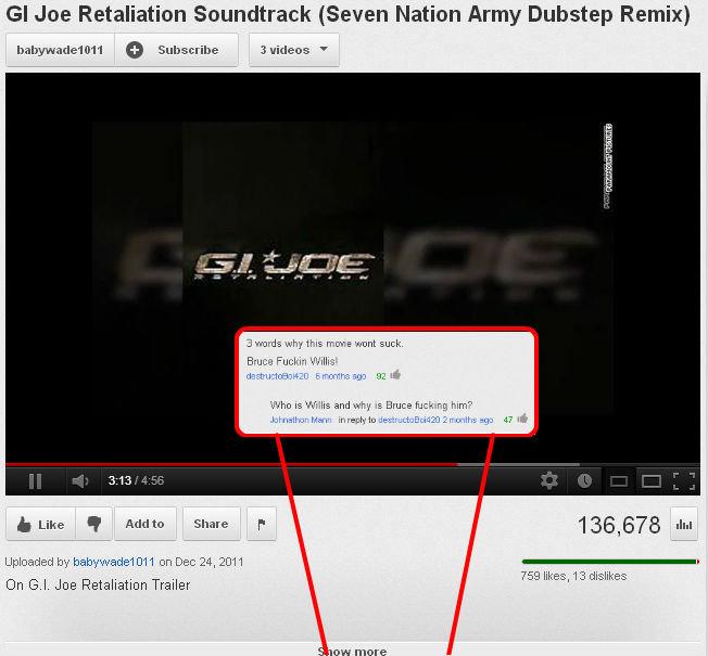 "Oh YouTube. . GI ' Retaliation 'eerm' t' ' l {Seven ' Army Dubstep Remix} dmit MIME Pl Ling L-, Mrair' ittl ', plff DH El. BE ' Trailer"""