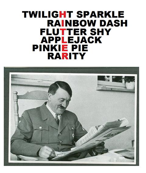 Oh.. Oh nein you didn't :|. TWILIGHT SPARKLE RAINBOW DASH FLUTTER SHY PINKIE PIE RARITY