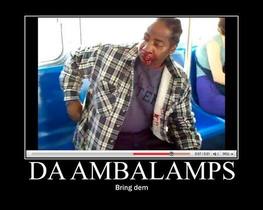 "OH LAWD NOT DA OLD GUY. . II/ AMBALAMPS Bring dam. ""Ambalance"" not ""Ambalamps"" old guy Santa beats up black dude KFC purple drank watermelon OH LAWD"