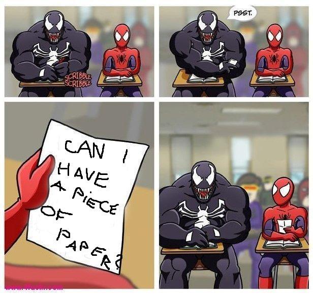 Oh, Venom.. Not mine, my buddy found it on 4chan... how do i shot web?