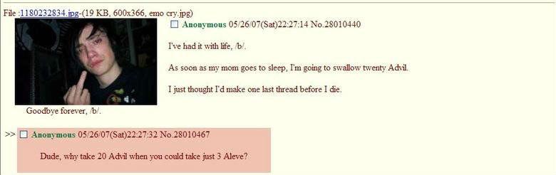 "Ohh 4chan. . lie had it life, b. As mun M my Irma: guts tn sleep, I' m geing to Ami I just make Dill.' MEN: I die. Goodbye ferever, M. Dyrdek"" why Aid what: -we"