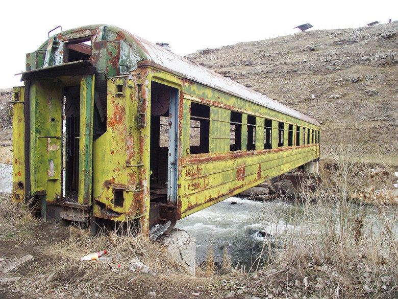 Old Traincar Bridge. . I In torch?.. nnnnnnnnnice