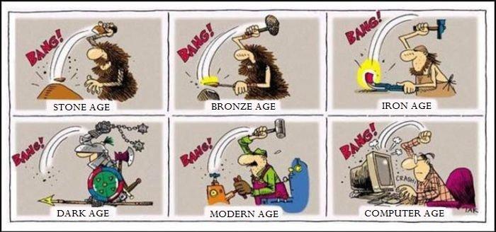 Old habits die hard. . DARKAGE MODERN AGE
