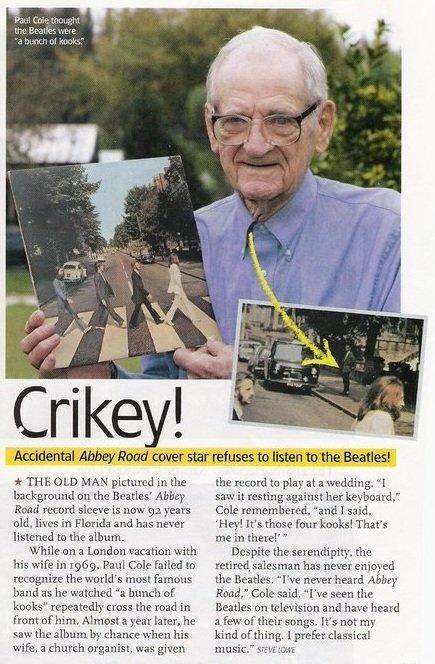 Old man doesn't like the beatles. Hope you enjoy . er. haii:. dlu Accidental Abbey. .' ynrn' 301' ti,' T star refuses that listen tn. the Heaths'! it THE IDLE M