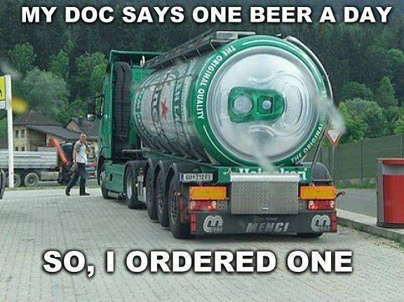 One Beer. One Beer. One Beer
