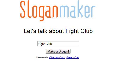 ONE JOB. . Sloganmaker Let' s talk abaut Fight Club Gte_ sloganmaker fight club