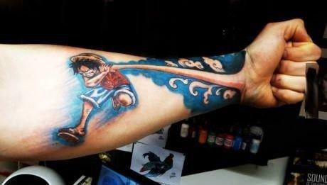 One piece tattoo. .