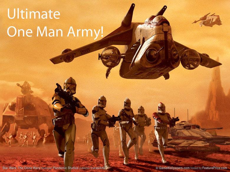 "One Man Army. . dll Star Warst' Clone Pandemics Studies Erit , tit "" ', .. i have.... the weirdest cloner... clone wars clone wars star wars one man army"