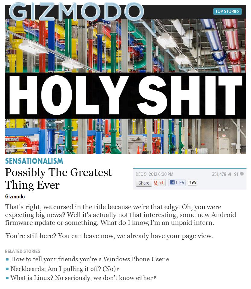 Online Journalism In A Nutshell. OC.
