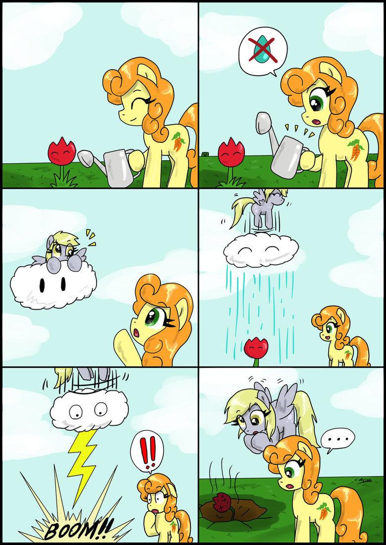 Oops, my bad.... source: . MLP comic carrot top derpy Rain my bad