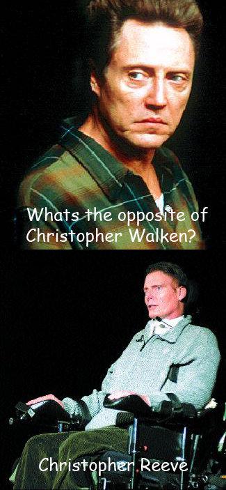Opposites. .. That was in terrible taste!