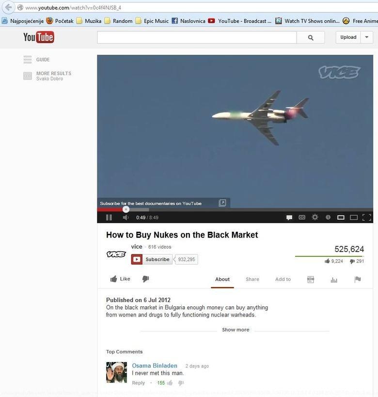 Osama buying Nukes. Nope. osama Nuke warhead funny