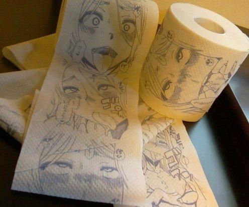 Otaku toilet paper. Might be from TSF Monogatari.