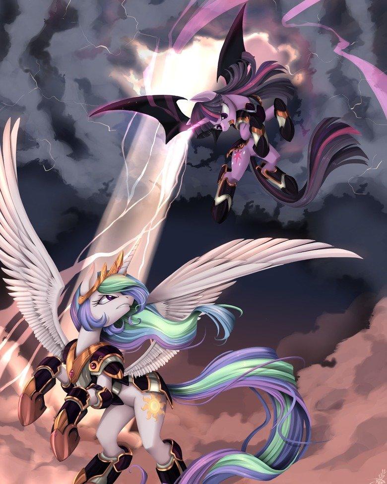 PONIES: Twilight vs Celestia. .. Shiiiit that is awesome.