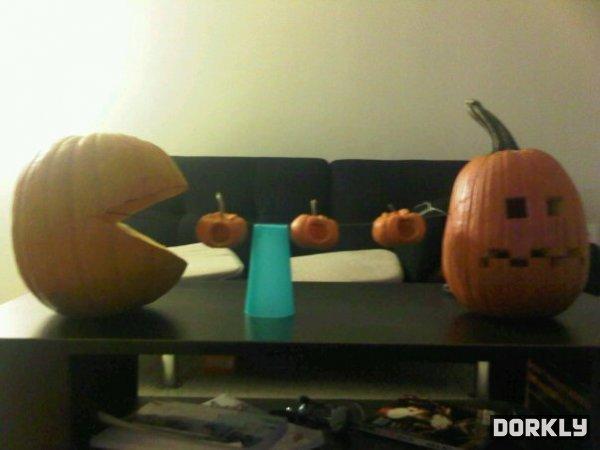 Pacman Pumpkins. .. waka waka waka