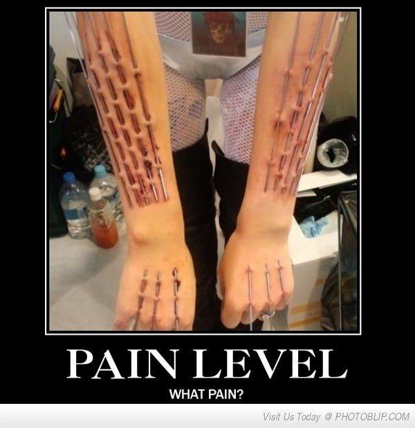 Pain. .. I don't get it Skin weaving