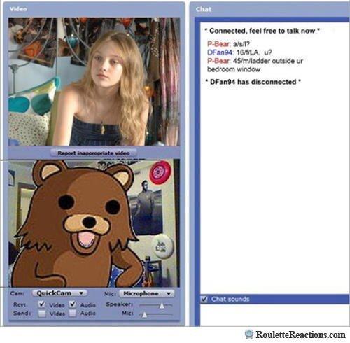 PedoBear Chat Roulette. .. That looks an awful lot like Dakota Fanning..