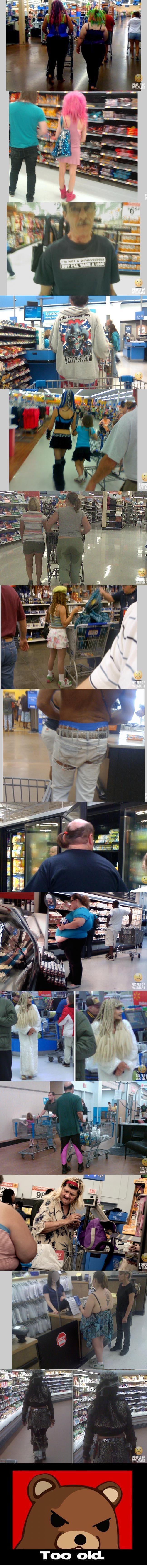 People of Walmart. . dath Too 'old.. copy me more, i please Walmart People lolz