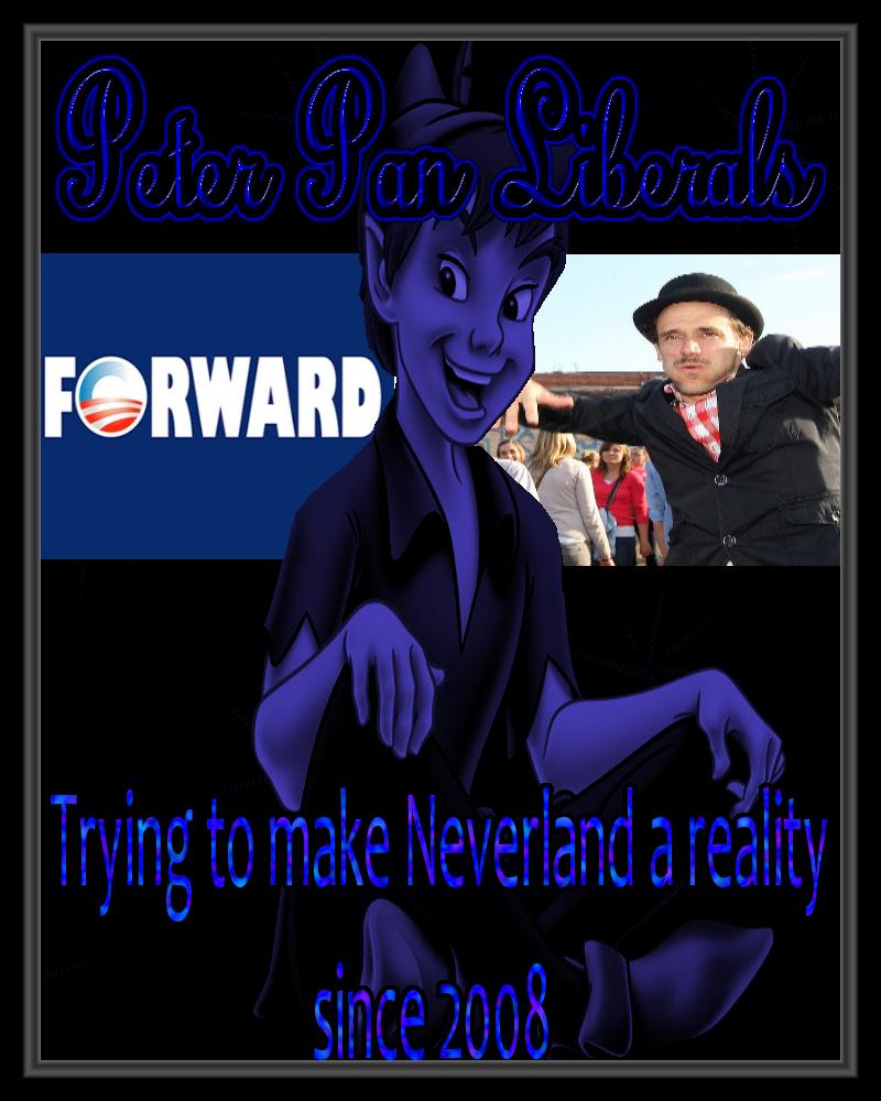 Peter Pan Liberals. picture taken from worldevents.deviantart dot com.