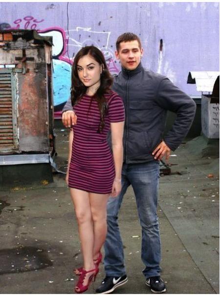 Photoshop skills. THEY ARE OVER 9000!.. FAKE! She's wearing clothes on camera Sasha Photoshop skills