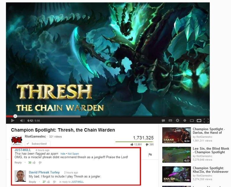 """Phreaky Jungler. . THE, CHAIN // 'EDEN Champion Spotlight: Thrash, the Chain Warden r .. , . ' ili' iinglip' MII Spotlight: David % Tulley it itemid! tmt r"""". .."""