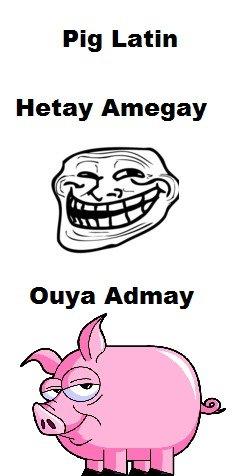 Pig Latin. ouyay. Pig Latin Hetty Amagai