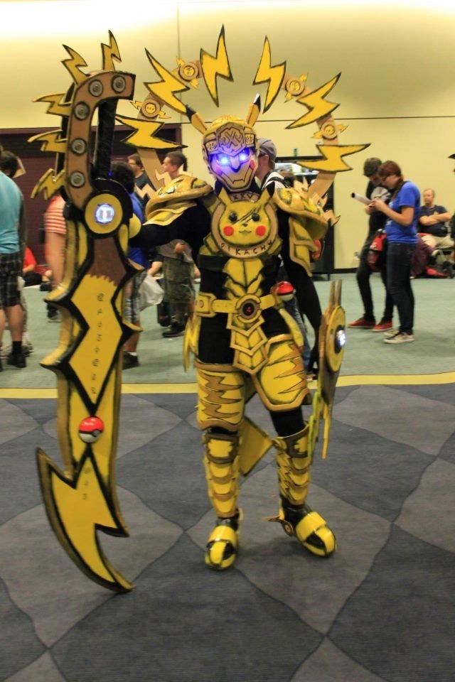 Pikachu Armour. Sick Pikachu armour.. This....