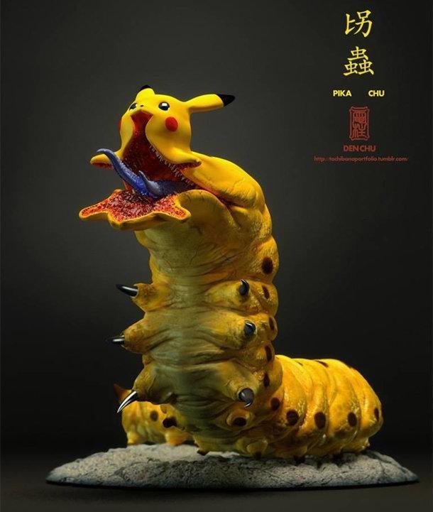 Pikachu statue. hold me. nightmare fuel PIKACHU Statue idonteven