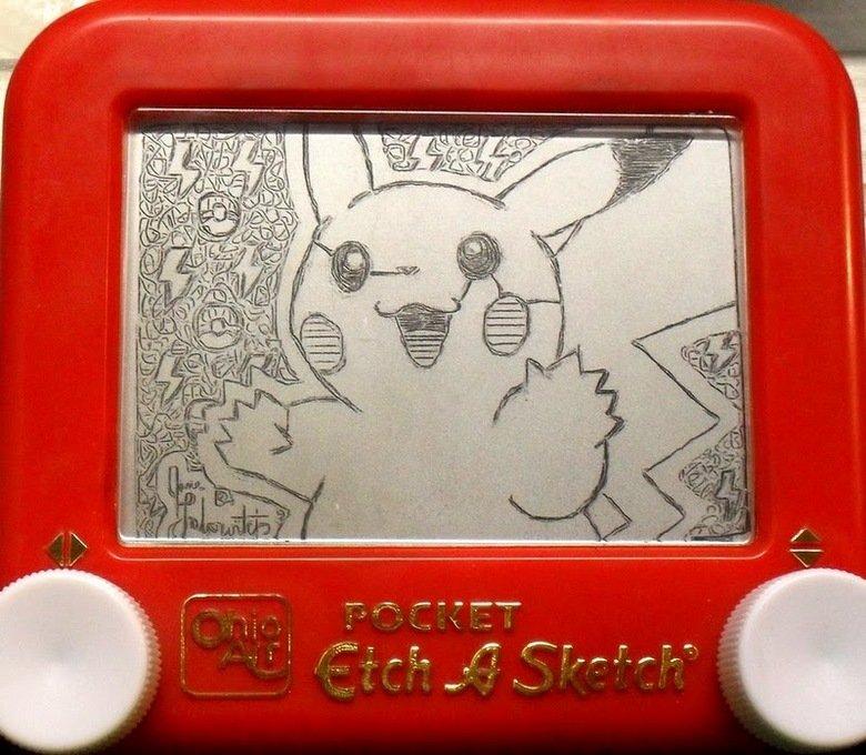 Pikachu Etch a Sketch.. As Promised:<br /> Etch a sketch art compilation part 1<br /> www.funnyjunk.com/funny_pictures/1515168/Etch+a+Sketch+Art+Com etch a sketch pi