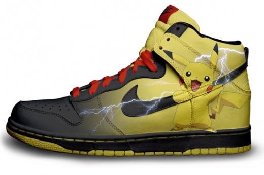 Pikashoe. Found on the internet... more like pikaSHOPPED! Shoe PIKACHU Pokemon Nike