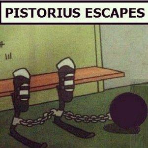 Pistorious. Breaking News!!!. PISTORIUS ESCAPES. inb4 katawa shoujo comments