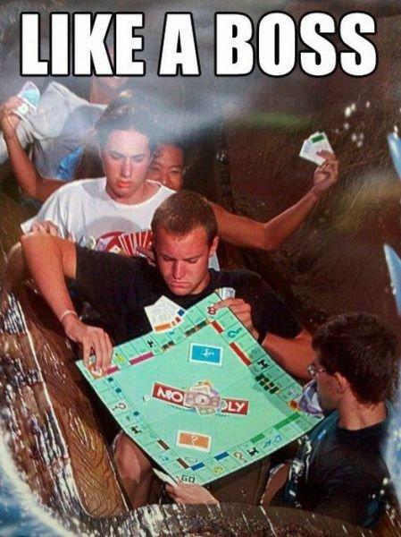 Play Monopoly. Thumb, or don't.. bahahah! hell yeah -___________- Boss niggerfaggot ginger chop my balls of Like A Boss