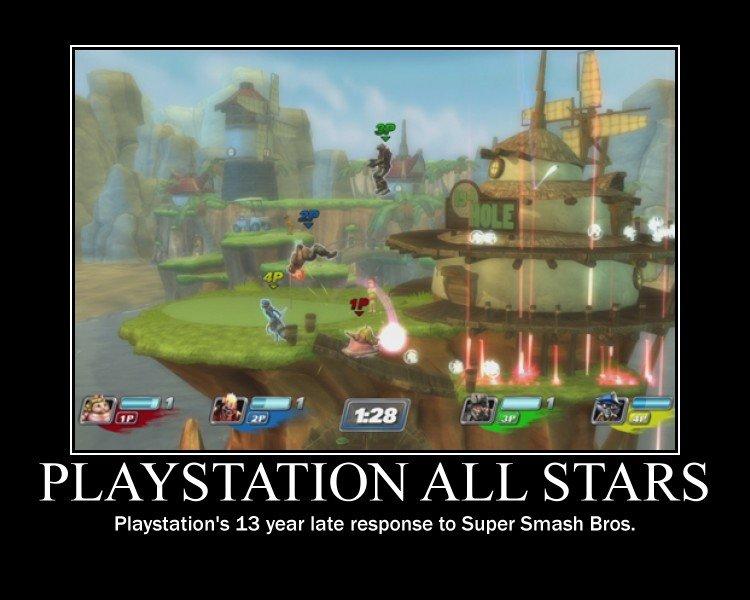 Playstation All Stars. . iria) Playstation' s 13 year late response to Super Smash Bros.