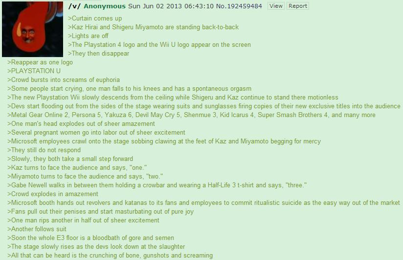 Playstation U. So sorry if this is a repost.. Iv! Anonymous Sun Jun 02 2013 05: 43: 10 hlo. View Report cames up Mia: Hirai and Shigeru Miyamoto are standing Al u