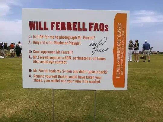 "Please Don't Feed Mr. Ferrel. . WILL . FMS It: is it "" i Elf me to photograph Mr, Ferrell? in it its tar Maxim tir Playgirl. Ir, that approach Mr: Farrell? In I funny"