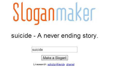 plz, kill youself. no tags. Sloganmaker suicide - A never ending story. suicide senate! -friends enamel i lied