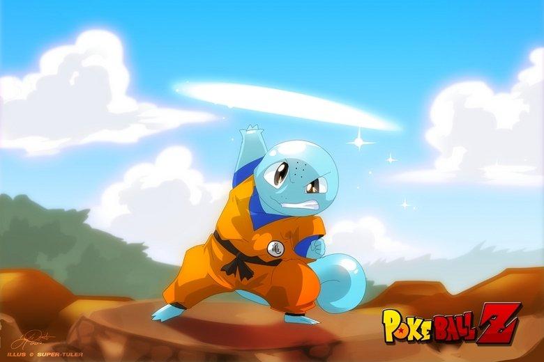 PokeballZ. Squillen.. So, Goku would be an Infernape or something.