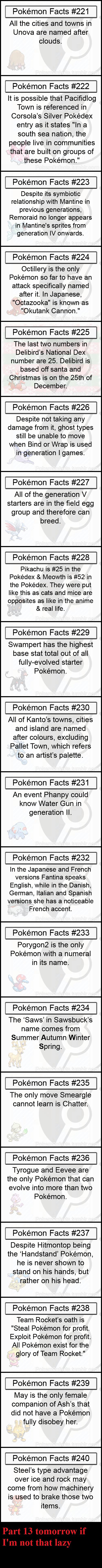 Pokemon Facts 12. Part 11: www.funnyjunk.com/channel/pokemon/Pokemon+Facts+11/xprmGkc/ Part 10: funnyjunk.com/channel/pokemon/Pokemon+Facts+10/mnRhGza/ Part 9: