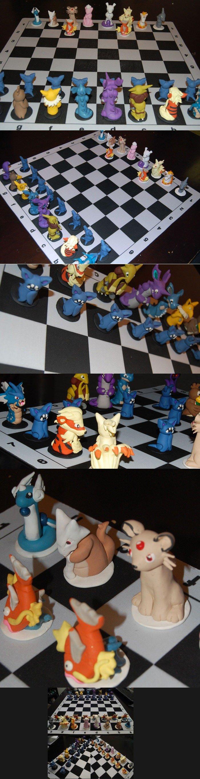 Pokemon chess anyone?. Someone suggested I upload a Pokemon theme chess, or possibly a Pokemon Lego theme chess board. If they meant Pokemon Lego bricks... I ca Pokemon chess