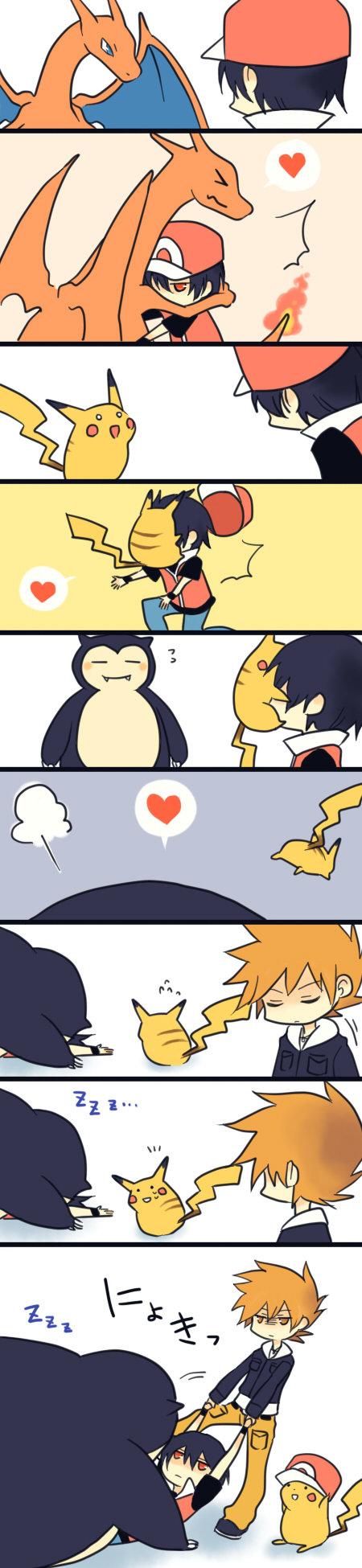 pokemon comic. :I.. So random yet so cute. car crashes ect