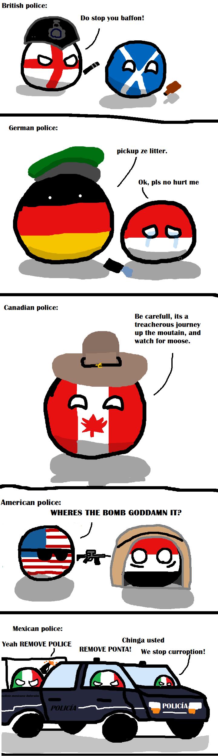Polandball Comics Police+Around+the+World.+r+polandball+bandaidplus+I+guess+America+would+make_f4c7d4_4908345