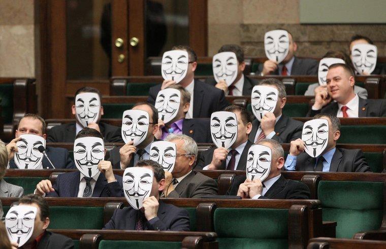 Polish politicians. .. I always forget about Mask Mondays.
