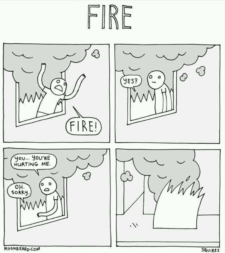 Polite fire. .