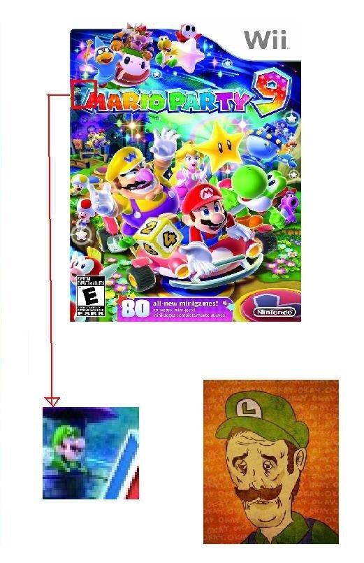 Poor Luigi. Luigi's fame has just gone down the toilet.