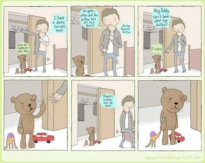 poor teddy ;_;. .. Go yourself Peter
