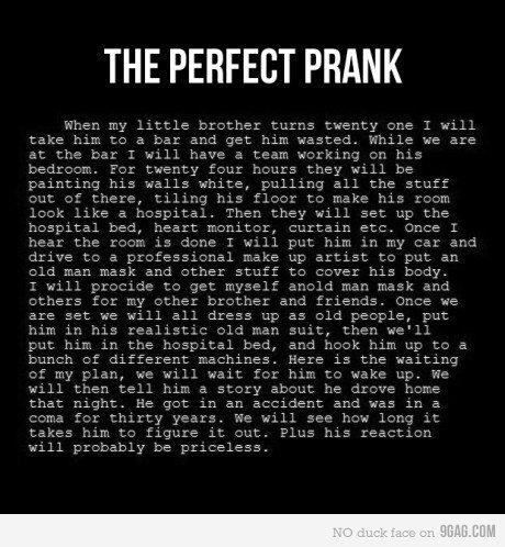 prank. .