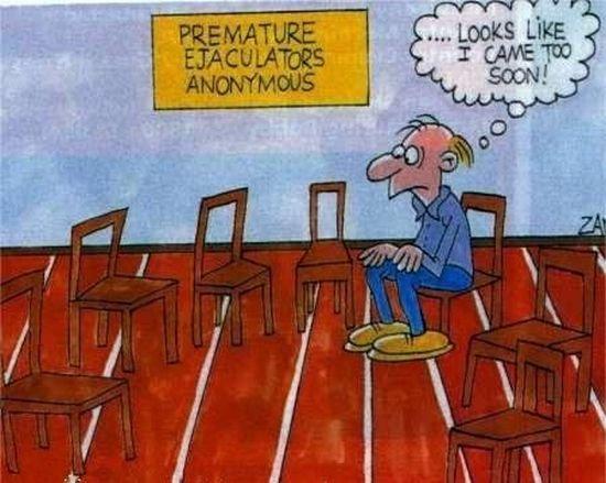 Premature ejaculation. Heh... Oh you..~ premature ejaculation