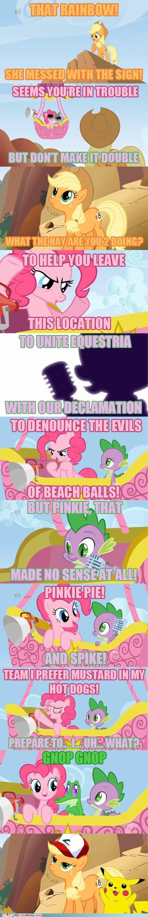 Prepare for trouble. cheezburger.com/6367669248. I H Is Al f 411. irc. EHW Pokemon my little pony Pinkie Pie spike Team rocket Applejack
